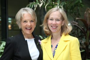June Alexander and Professor Cynthia Bulik – helping to launch the Anorexia Nervosa Genetics Initiative in 2013 was one of the happiest days of my life.